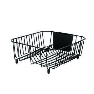 Rubbermaid  5.3 in. H x 12.4 in. W x 14.3 in. L Steel  Black  Dish Drainer