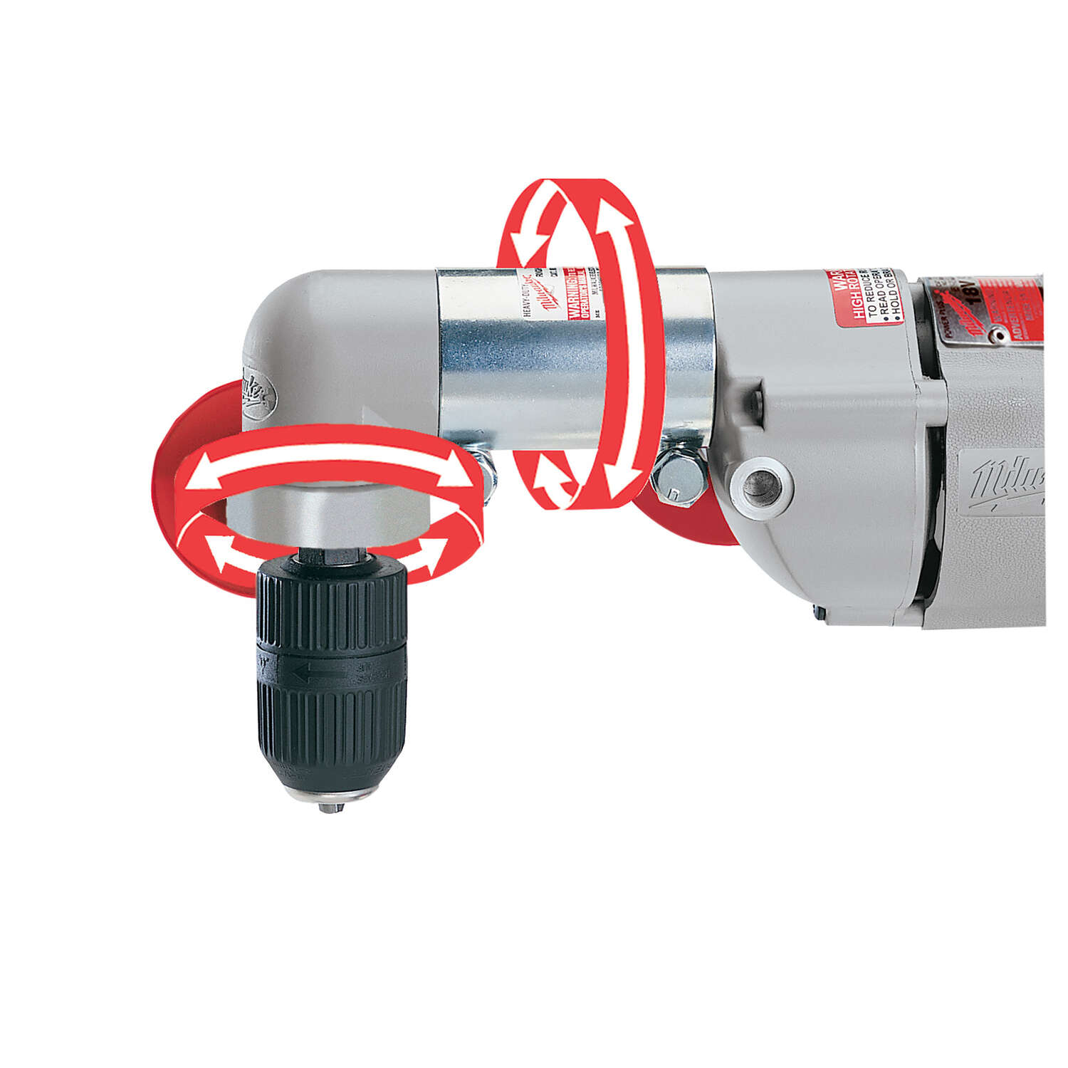 Milwaukee  1/2 in. Keyed  Angled  Corded Angle Drill  7 amps 750 rpm