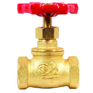 ProLine  1/2 in.  x 1/2 in.  Stop Valve  Threaded  Brass