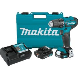 Makita  CXT  12 volt Brushed  Cordless Drill/Driver  Kit  3/8 in. 1700 rpm