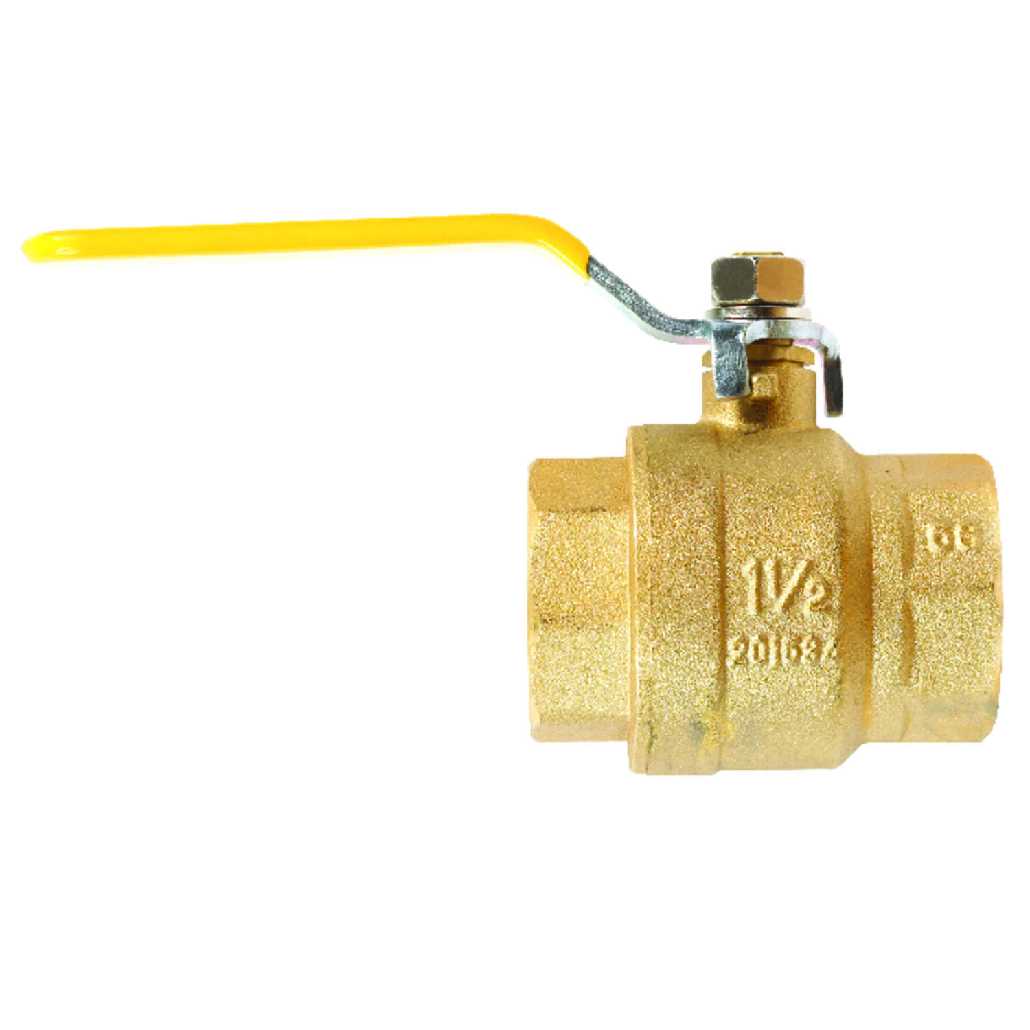 Mueller  Ball Valve  1-1/4 in. Dia. x FPT   x 1-1/4 in. Dia. FPT  Brass  Packing Gland