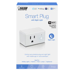Feit Electric Residential Plastic Smart Plug with Night Light 1-15R Boxed