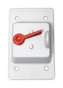 Sigma  Rectangle  Plastic  1 gang Weatherproof Cover  For 1 Toggle Switch