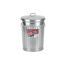 Behrens  20 gal. Galvanized Steel  Garbage Can  Lid Included Animal Proof/Animal Resistant