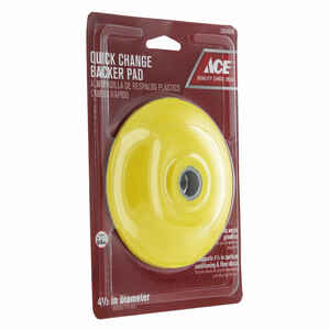 Ace  4-1/2 in. Dia. Rubber  Fiber Disc Backer Pad  5/8 in.  13300 rpm 1 pc.