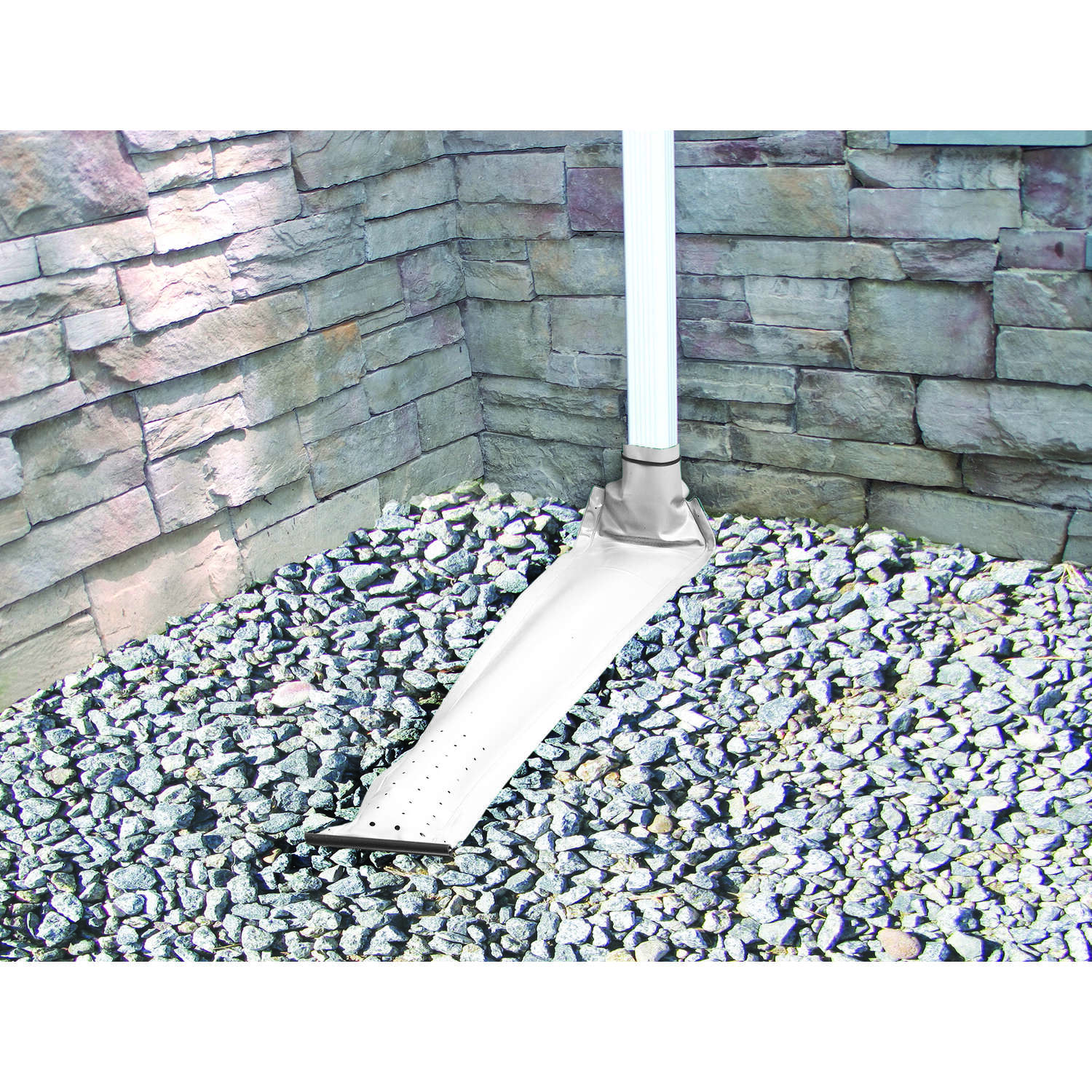 Frost King  Drain Away  4 ft. L Plastic  Downspout Extension  White