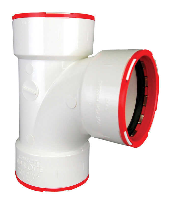 Connectite  ConnecTite  Schedule 40  3 in. Hub   x 3 in. Dia. Hub  PVC  Sanitary Tee  90 deg.