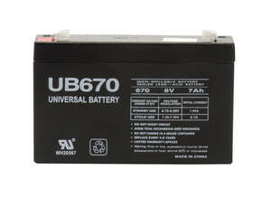 Universal Power Group  UB670  7 amps Lead Acid Automotive Battery