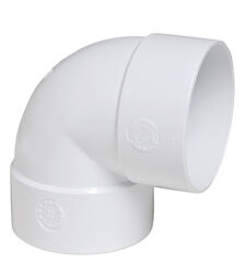Plastic Trends  3 in. Hub   x 3 in. Dia. Hub  PVC  Elbow