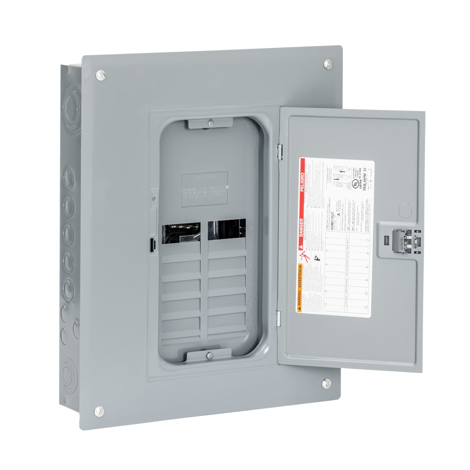 Square D HomeLine 125 amps 120/240 volt 8 space 16 circuits Wall ...