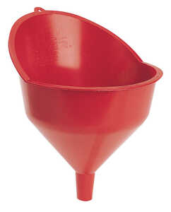FloTool  Red  12.5 in. H Resin  132 oz. Funnel