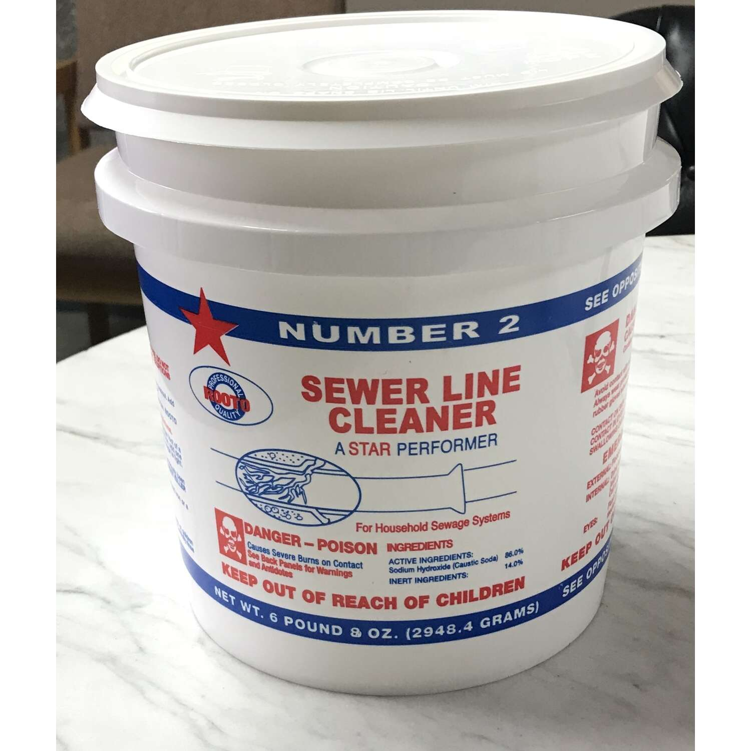 Rooto  Number 2  Powder  Main Line Cleaner  6.5 lb.