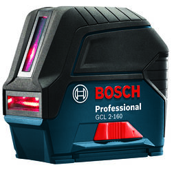 Bosch  2 beam Self Leveling Cross Line Laser  165 ft. 8 pc.