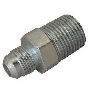 Magne Flo  3/8 in. Flare   x 1/2 in. Dia. x 1/2 in. Dia. MIP  Stainless Steel  Gas Connector  MIP  3