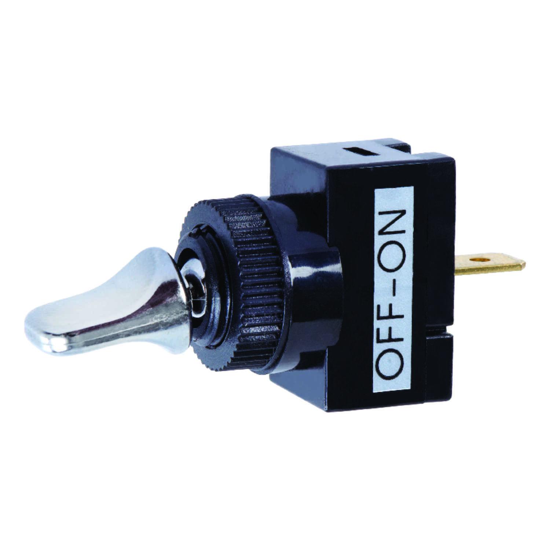 Jandorf Single Pole 20 Amps Automotive Marine Switch Black Silver 1 Commercial Toggle