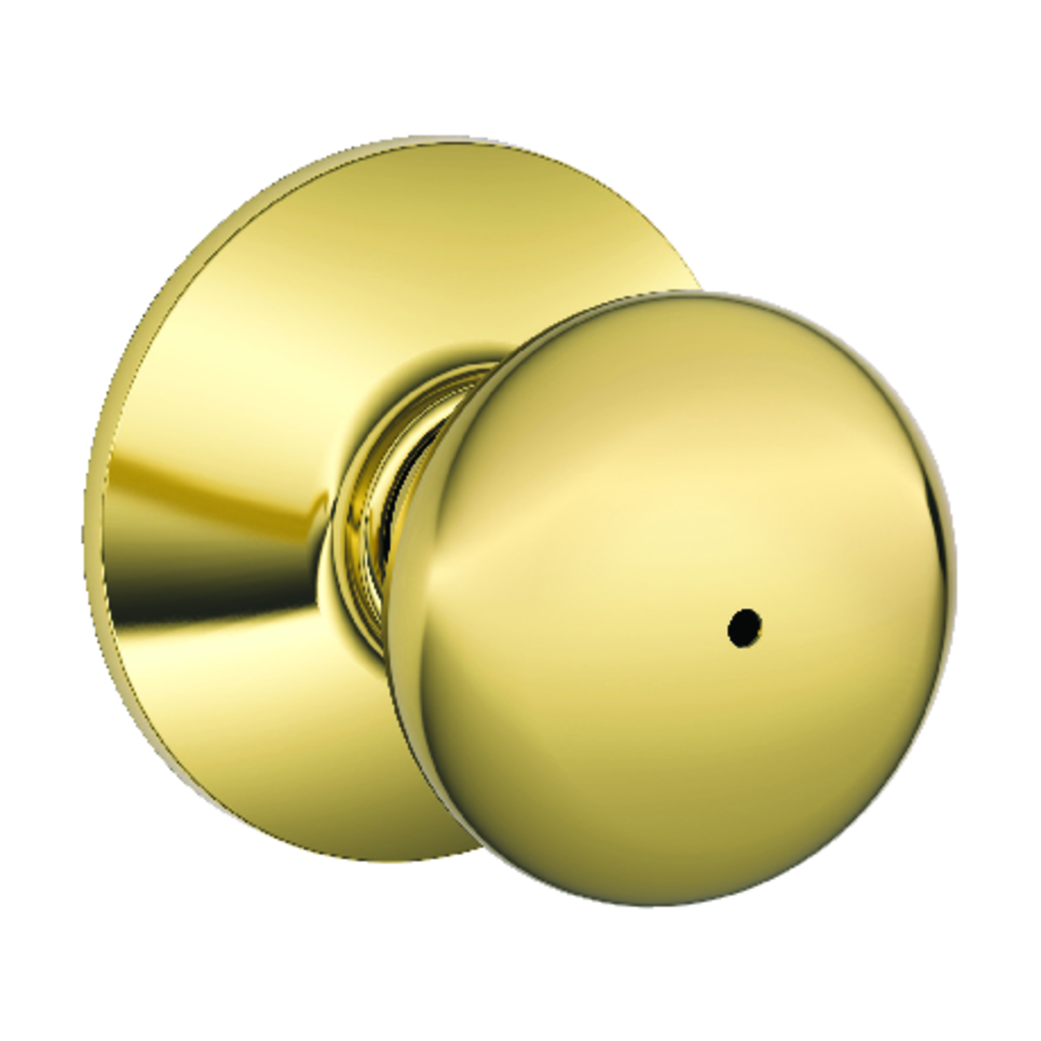 Schlage  Plymouth  Bright Brass  Steel  Privacy Lockset  ANSI Grade 2  1-3/4 in.