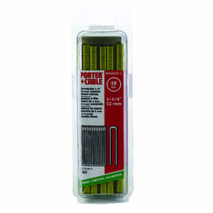 Porter Cable  1-1/4 in. L x 1/4 in. W Galvanized Steel  Narrow Crown  Staples  18 Ga. 1000 EA