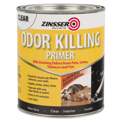 Zinsser  Clear  Water-Based  Acrylic  Odor Killing Primer  1 qt.