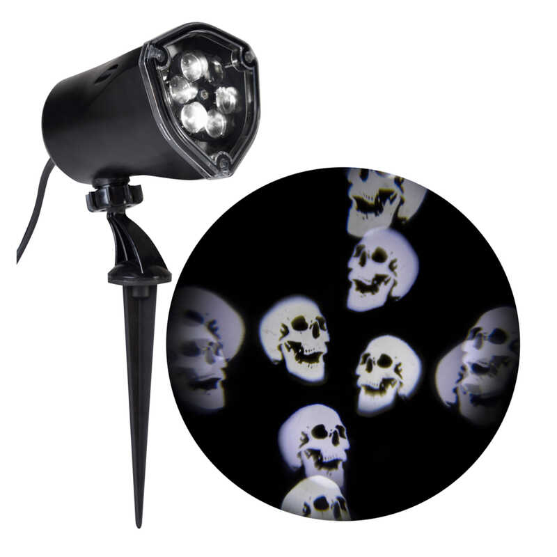 Gemmy  Skulls  Whirl-A-Motion Projector  11.8 in. H x 5.3 in. L x 3.6 in. W 1 pk