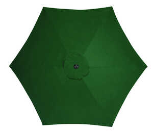 Living Accents  MARKET  9 ft. Tiltable Green  Patio Umbrella