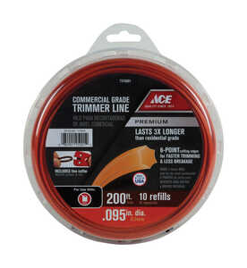 Ace  Commercial Grade  0.095 in. Dia. Trimmer Line