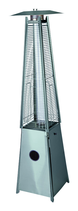Living Accents  Pyramid  Propane  20-1/2 in. W x 24-1/2 in. D Stainless Steel  Patio Heater