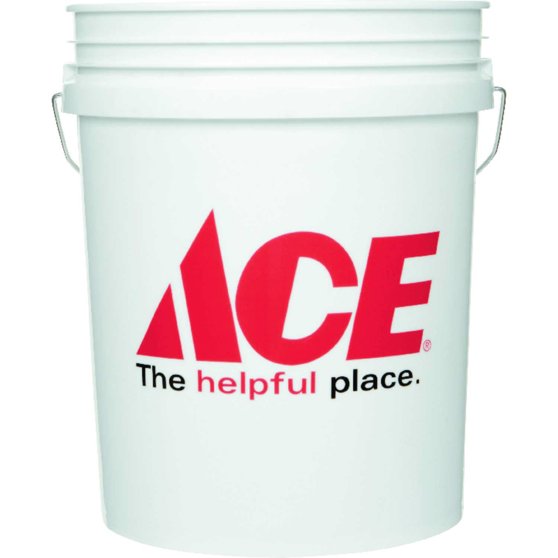 Ace White 5 gal  Plastic Bucket - Ace Hardware