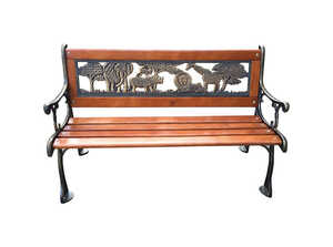 Living Accents  Children's  Children's Bench  15.7 in. L x 32 in. D x 18.9 in. H Cast Iron