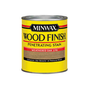 Minwax  Wood Finish  Semi-Transparent  Weathered Oak  Oil-Based  Oil  Wood Stain  1 qt.