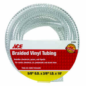 Ace  ProLine  3/8 in. Dia. x 5/8 in. Dia. PVC  Braided Vinyl Tubing