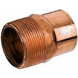 Mueller Streamline 1/2 in. Threaded x 1/2 in. Dia. MPT Wrought Copper Adapter