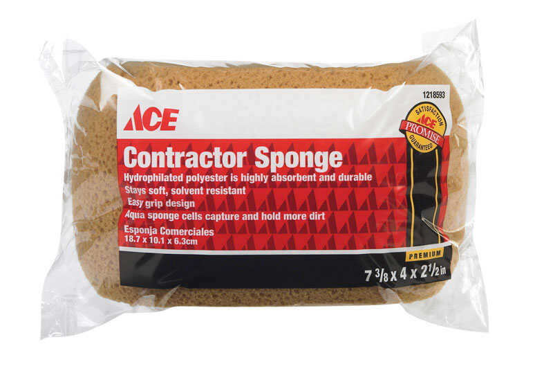 Ace  Contractor  Medium Duty  Sponge  7.37 in. L 1 pk