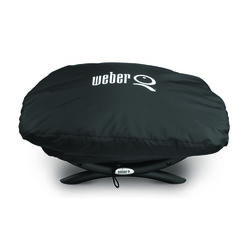 Weber  Black  Grill Cover  For Q100/1000 Series Grills 26.3 in. W x 12.4 in. H