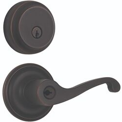 Brinks  Glenshaw  Oil Rubbed Bronze  Entry Lever and Deadbolt Set  ANSI Grade 2  1.75 in.