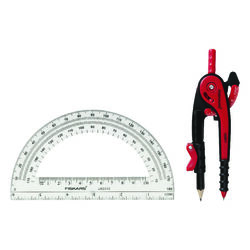 Fiskars 12 in. Compass and Protractor Set Protractor Included