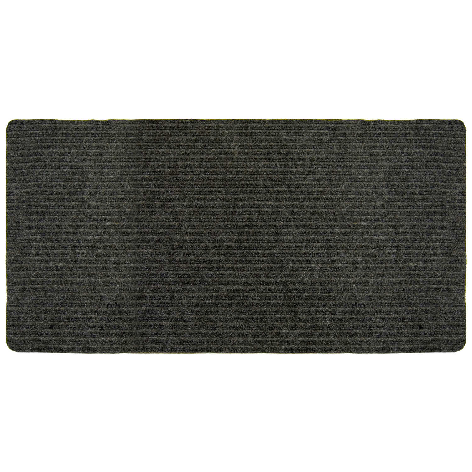 Multy Home  Concord  Nonslip 36 in. W x 50 ft. L Charcoal  Carpet Runner