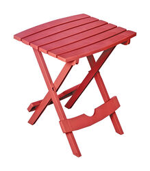 Adams QuikFold Rectangular Red Resin Folding Side Side Table