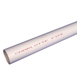 Charlotte Pipe  Schedule 40  PVC  Pipe  1 in. Dia. x 5 ft. L Plain End  450 psi