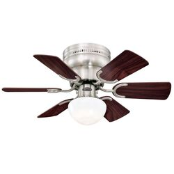 Westinghouse Petite 30 in. Brushed Nickel Brown LED Indoor Ceiling Fan
