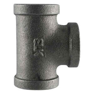 Pipe Decor  1/2 in. FPT  1-1/4 in. L FPT  Black  Malleable Iron  Pipe Decor Tee