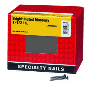 Ace  1-1/2 in. L Masonry  Bright  Steel  Nail  Fluted Shank  Flat  5 lb.