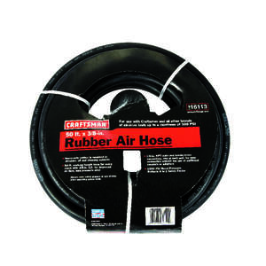 Craftsman  50 ft. L x 3/8 in.  Air Hose  EPDM Rubber  300 psi Black