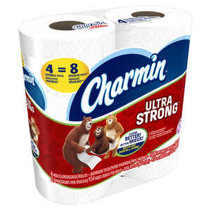 Charmin  Ultra Strong  Toilet Paper  4 roll 154 sheet 67