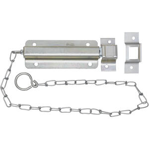 National Hardware  6 in. L Zinc-Plated  Steel  Chain Bolt