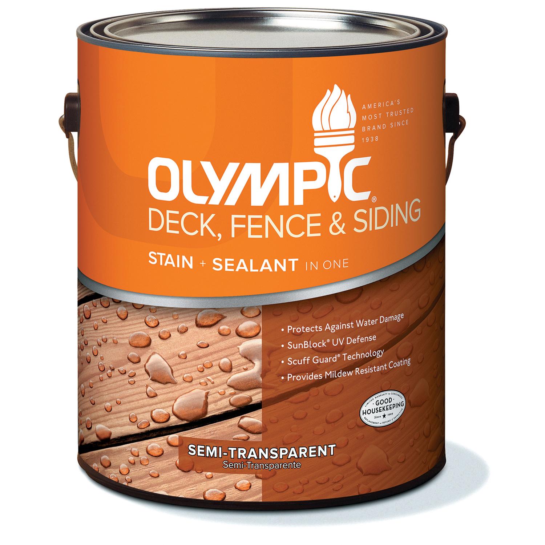Olympic Semi Transpa Gloss Cedar Natural Tone Neutral Acrylic Oil Deck