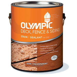 Olympic  Semi-Transparent  Semi-Gloss  Cedar Natural Tone  Neutral  Acrylic/Oil  Deck, Fence and Sid