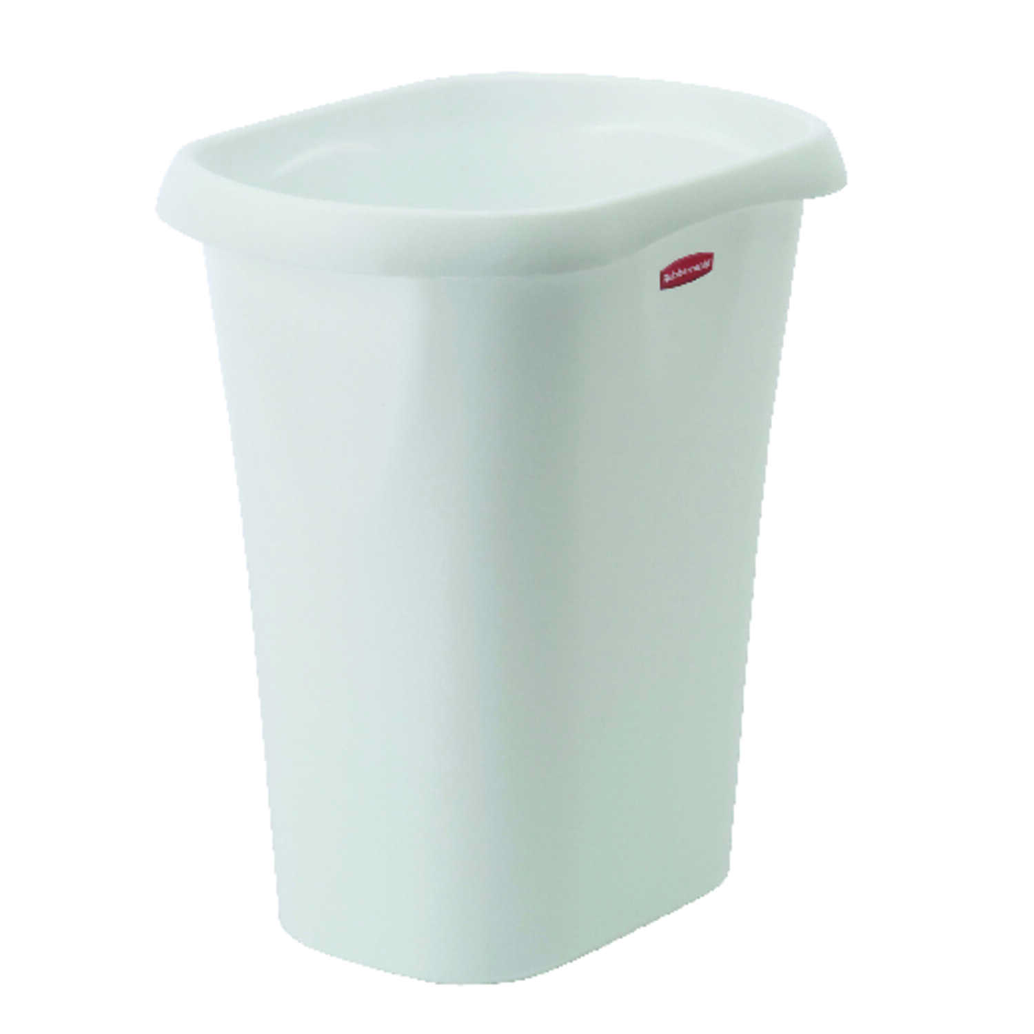 Rubbermaid  White  Open Top  Wastebasket  12 qt.