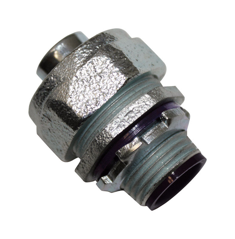 Sigma  1/2 in. Dia. Malleable Iron  Straight Connector  For Liquid Tight 1 pk