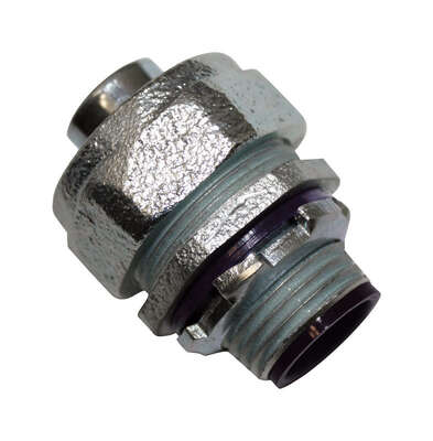 Sigma Electric ProConnex  1/2 in. Dia. Zinc-Plated Iron  Straight Connector  For Liquid Tight 1 pk