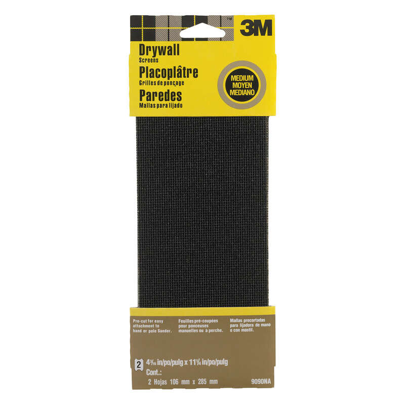 3M  11-1/4 in. L x 4-3/16 in. W x 11-1/4 in. L Medium  Drywall Sanding Screen  Silicon Carbide  2 pk